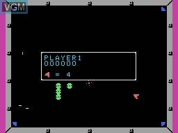 In-game screen of the game Omega Race on Coleco Industries Colecovision