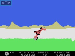 In-game screen of the game BC's Quest for Tires on Coleco Industries Colecovision