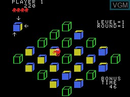 In-game screen of the game Q-bert II on Coleco Industries Colecovision