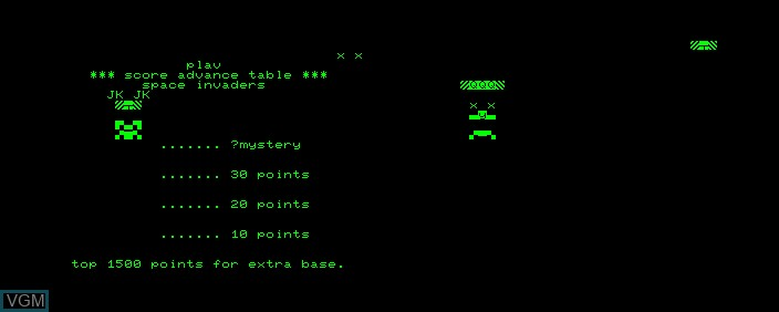 Title screen of the game Space Invaders on Commodore PET