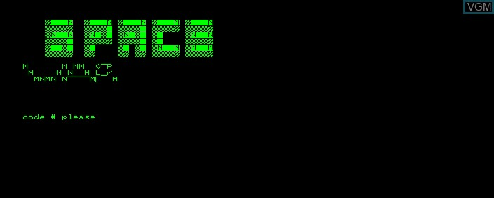 Title screen of the game Space War on Commodore PET