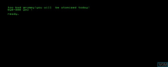 In-game screen of the game Space War on Commodore PET
