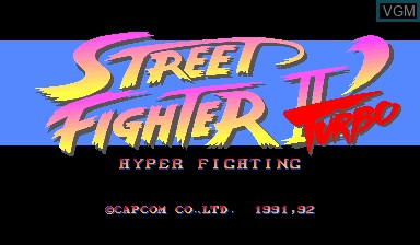 Title screen of the game Street Fighter II' Turbo - Hyper Fighting on Capcom CPS-I