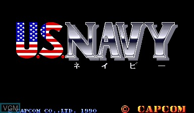 Title screen of the game U.S. Navy on Capcom CPS-I