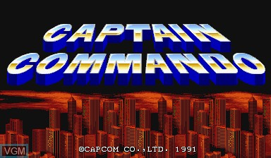 Title screen of the game Captain Commando on Capcom CPS-I