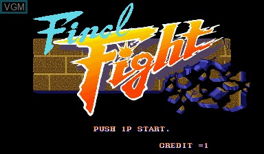 Title screen of the game Final Fight on Capcom CPS-I