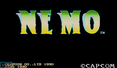Title screen of the game Nemo on Capcom CPS-I