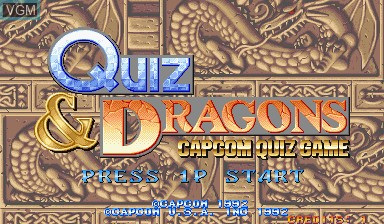 Title screen of the game Quiz & Dragons on Capcom CPS-I