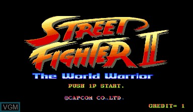Title screen of the game Street Fighter II - The World Warrior on Capcom CPS-I