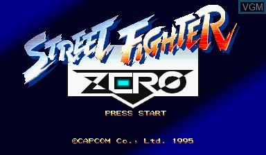 Title screen of the game Street Fighter Zero on Capcom CPS-I