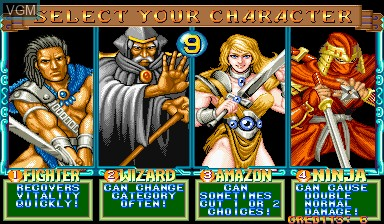 Menu screen of the game Quiz & Dragons on Capcom CPS-I