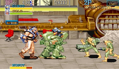 In-game screen of the game Captain Commando on Capcom CPS-I