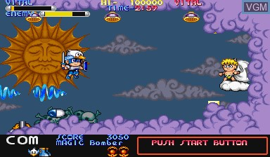 In-game screen of the game Mega Twins on Capcom CPS-I
