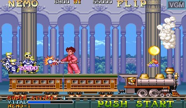 In-game screen of the game Nemo on Capcom CPS-I