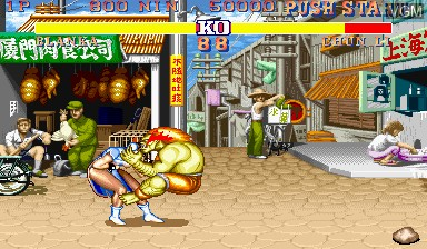 In-game screen of the game Street Fighter II' - Champion Edition on Capcom CPS-I