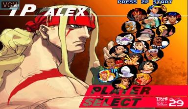 Menu screen of the game Street Fighter III - 3rd Strike on Capcom CPS-III