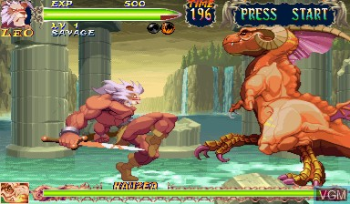 In-game screen of the game Warzard on Capcom CPS-III
