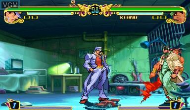 In-game screen of the game Jojo's Venture/ JoJo no Kimyouna Bouken on Capcom CPS-III