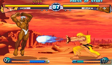 In-game screen of the game Street Fighter III - 2nd Impact on Capcom CPS-III