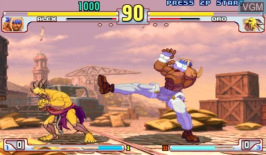 In-game screen of the game Street Fighter III - 3rd Strike on Capcom CPS-III