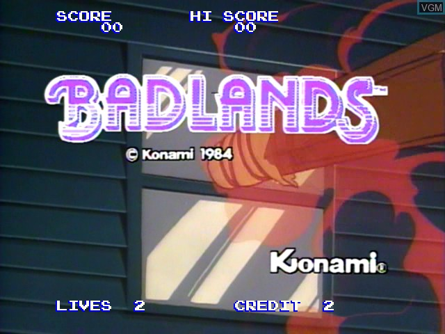 Title screen of the game Badlands on Daphne