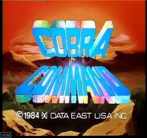 Title screen of the game Cobra Command on Daphne