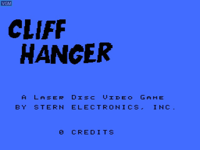 Title screen of the game Cliff Hanger on Daphne