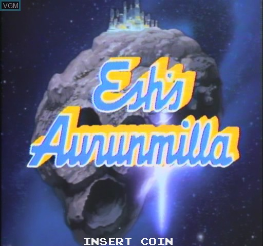Title screen of the game Esh's Aurunmilla on Daphne