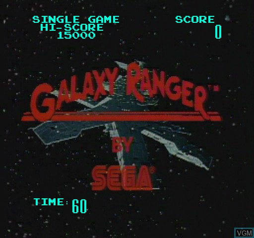 Title screen of the game Galaxy Ranger on Daphne