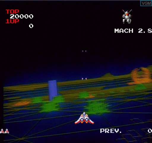 Title screen of the game Interstellar Laser Fantasy on Daphne