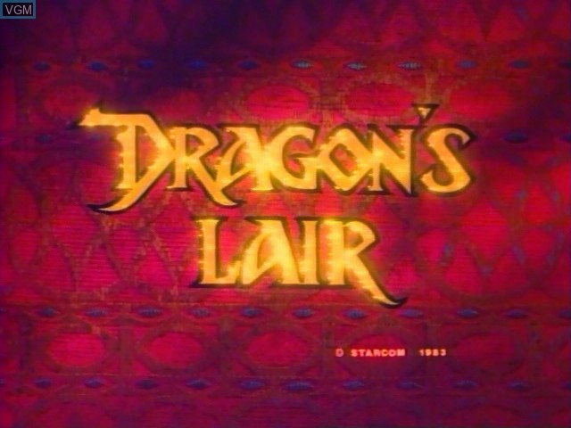Title screen of the game Dragon's Lair on Daphne