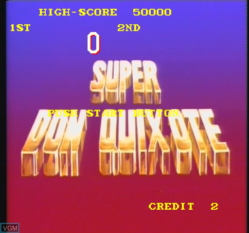 Title screen of the game Super Don Quix-ote on Daphne