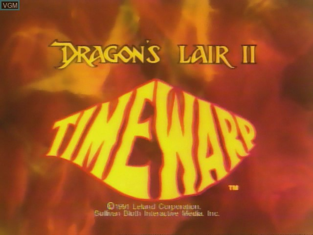 Title screen of the game Dragon's Lair II - Time Warp on Daphne