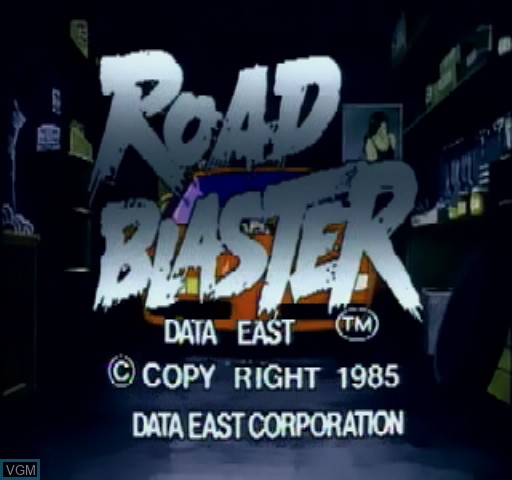 Title screen of the game Road Blaster on Daphne