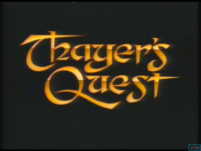 Title screen of the game Thayer's Quest on Daphne