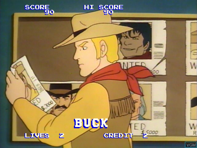 Menu screen of the game Badlands on Daphne