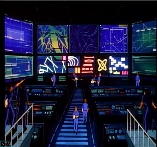 Menu screen of the game Cobra Command on Daphne