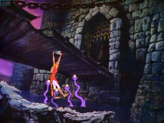 Menu screen of the game Dragon's Lair on Daphne