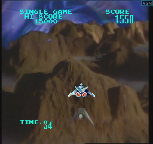 In-game screen of the game Galaxy Ranger on Daphne