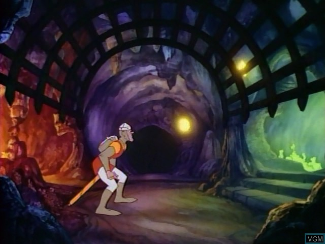 In-game screen of the game Dragon's Lair on Daphne