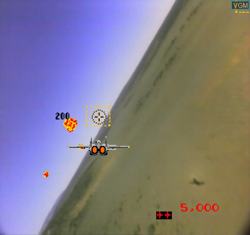In-game screen of the game M.A.C.H. 3 on Daphne