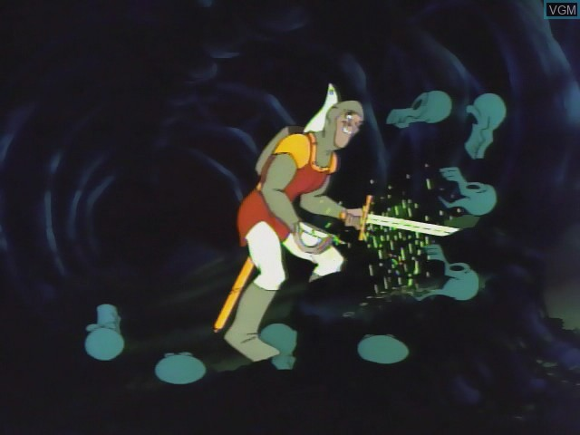 In-game screen of the game Dragon's Lair II - Time Warp on Daphne