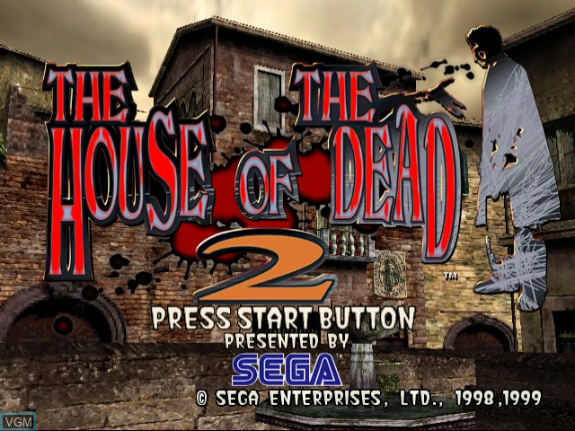 Title screen of the game House of the Dead 2, The on Sega Dreamcast