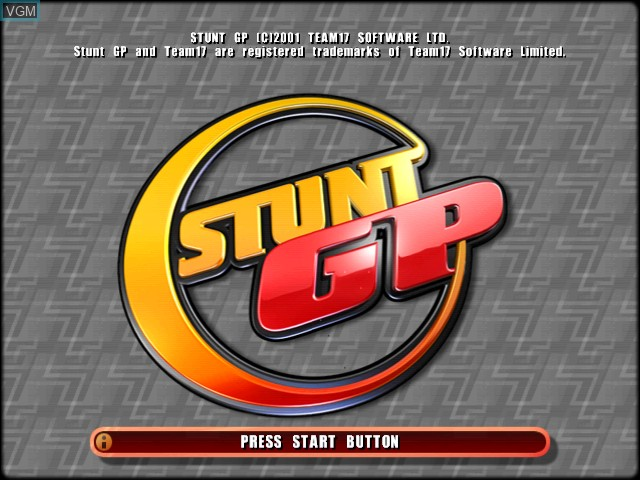 Title screen of the game Stunt GP on Sega Dreamcast