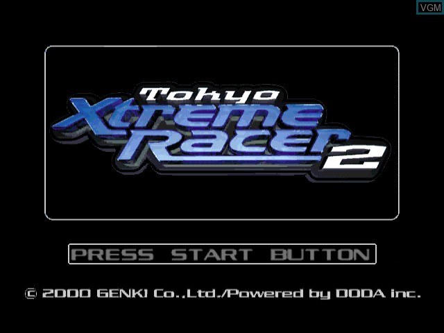 Title screen of the game Tokyo Xtreme Racer 2 on Sega Dreamcast