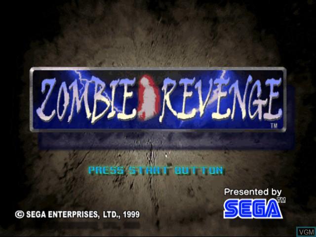 Title screen of the game Zombie Revenge on Sega Dreamcast
