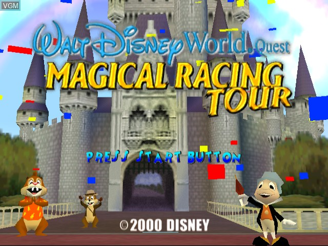 Title screen of the game Walt Disney World Quest - Magical Racing Tour on Sega Dreamcast