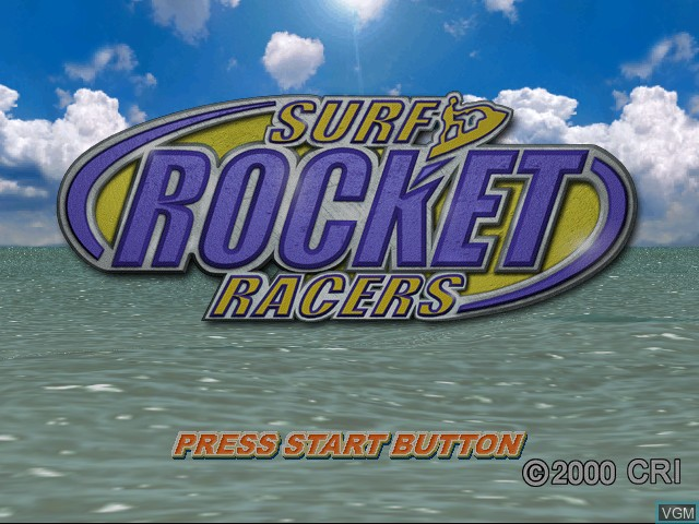 Title screen of the game Surf Rocket Racers on Sega Dreamcast