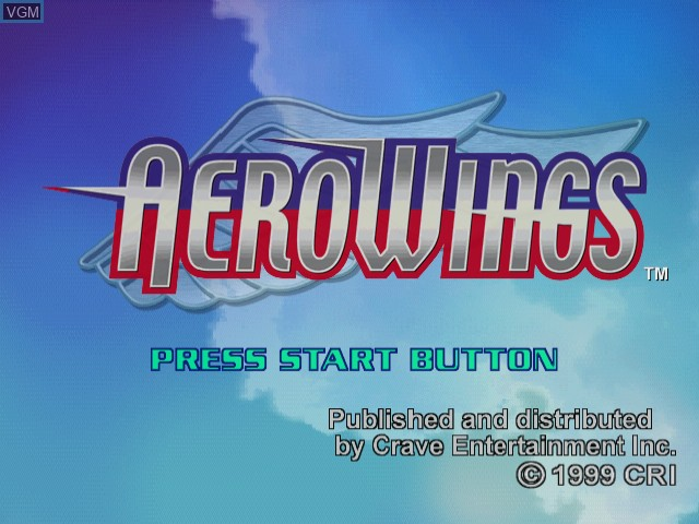 Title screen of the game AeroWings on Sega Dreamcast