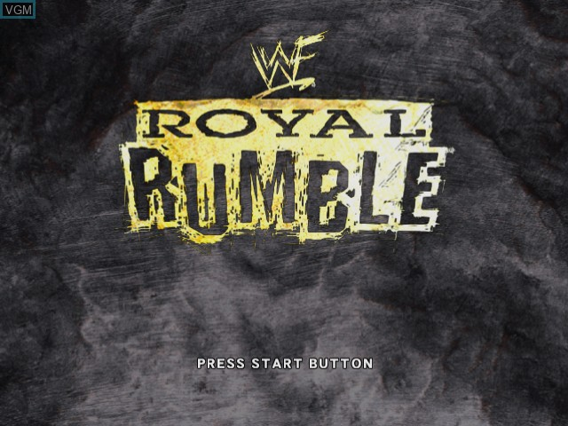 Title screen of the game WWF Royal Rumble on Sega Dreamcast
